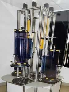 banc test laboratoire, mise sous pression sous cloches
